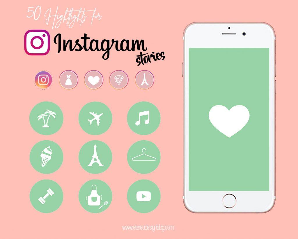 iconos instagram vida saludable
