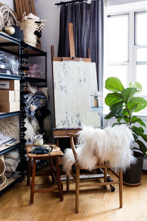Cómo crear tu propio estudio de pintura en casa