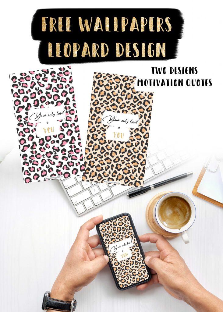 motivation quote free wallpaper design leopard gold girls
