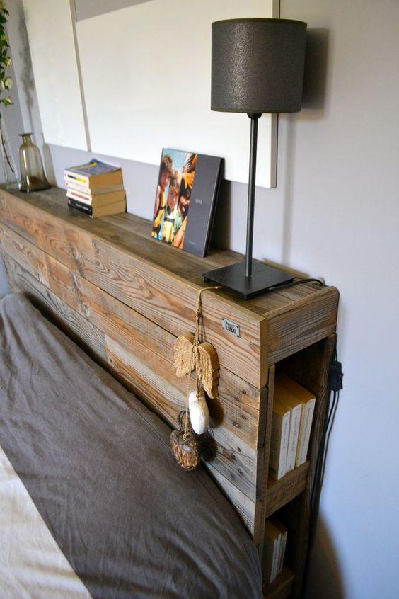 cabecero de cama palets madera