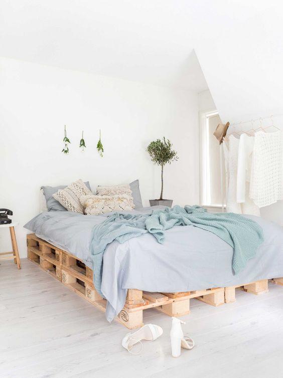 cama dormitorio palets