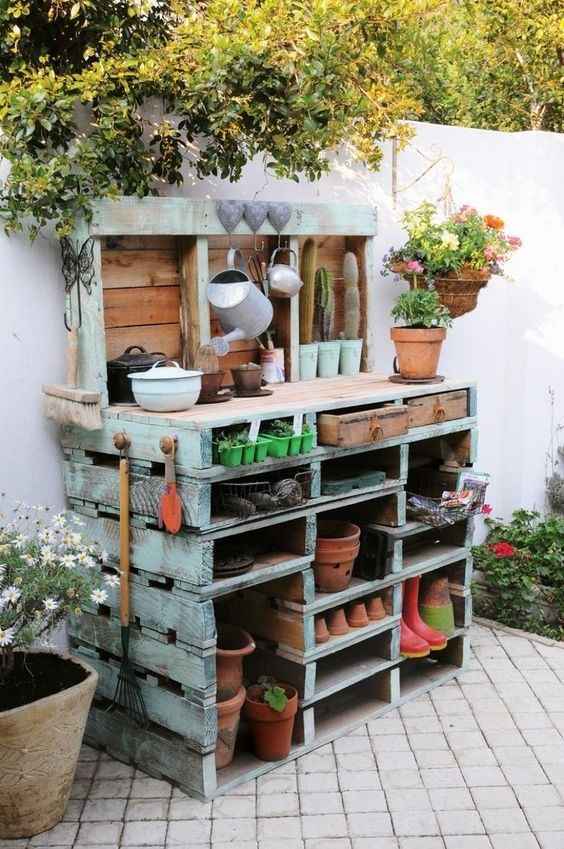 mueble jardin palets