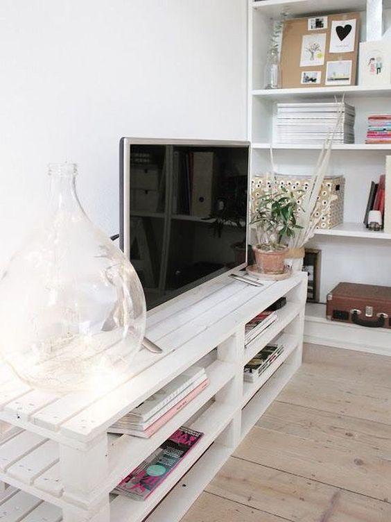 mueble para tv palets