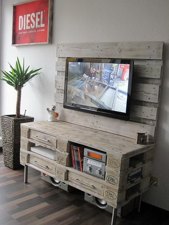 mueble television palet