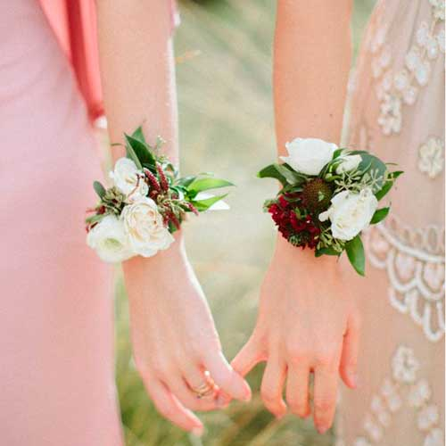 brazalete damas de honor boda