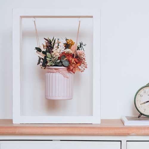decoracion flores preservadas