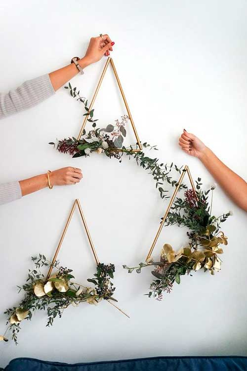 coronas navidad diy flores