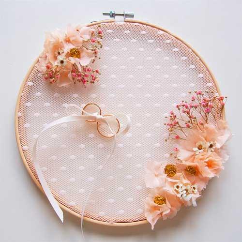 porta anillos flores preservadas