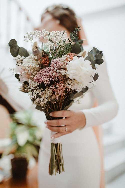 flores preservadas secas novia