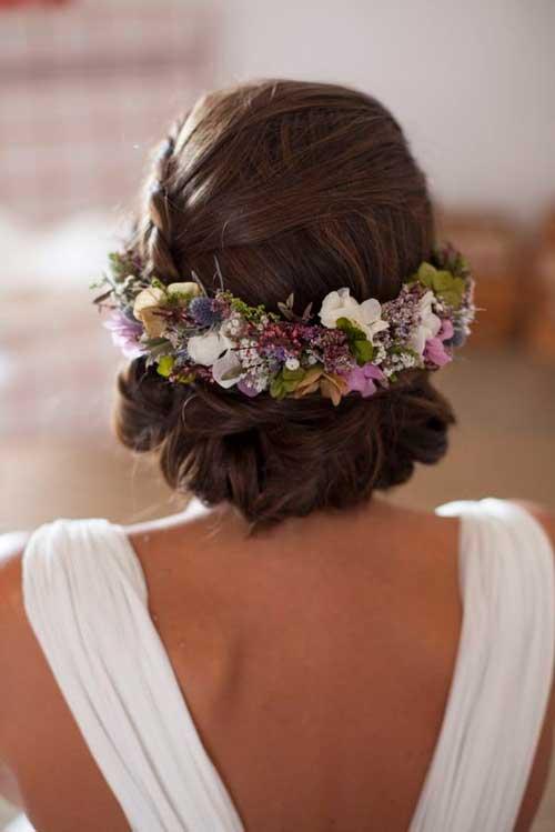 tocado flora novia