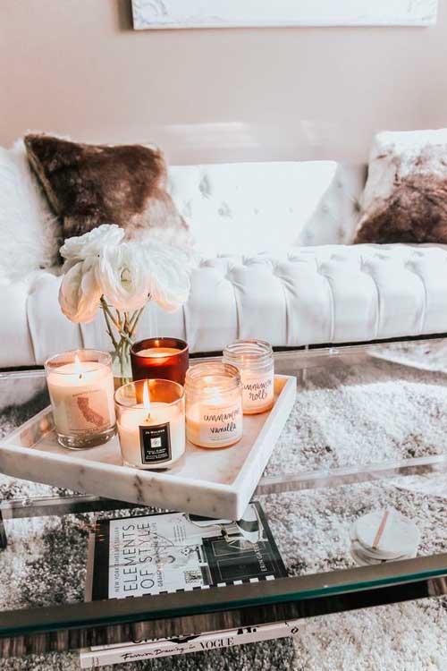 iluminacion con velas