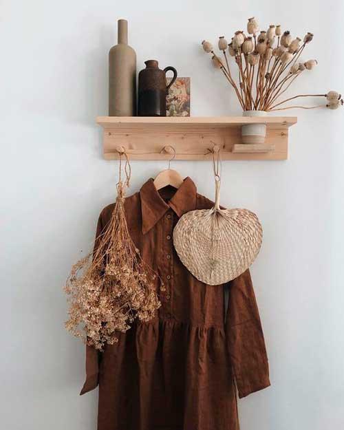 Objetos de madera decorativos
