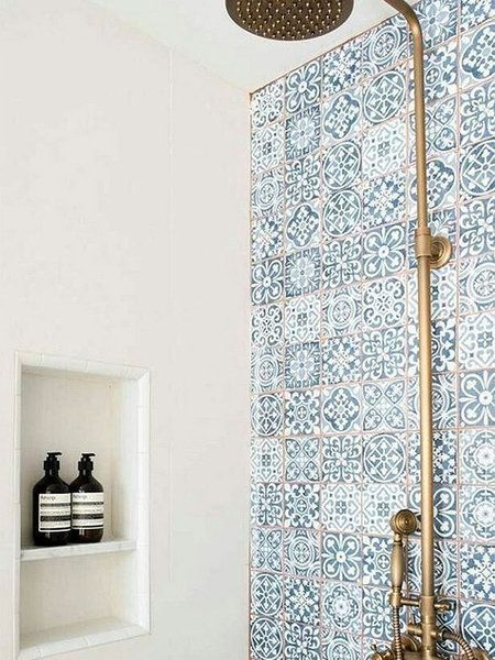 Baños con azulejos hidráulicos